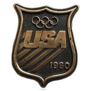 Vintage 1980 USA 0lympic belt buckle